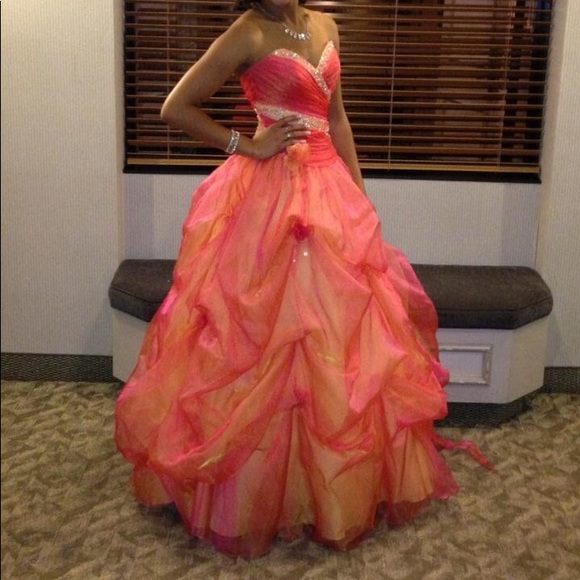 Dresses | Pink And Orange Ball Gown | Poshmark